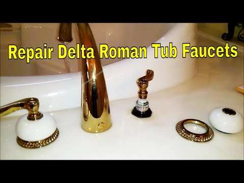 Repair Delta Roman Tub Faucets Youtube