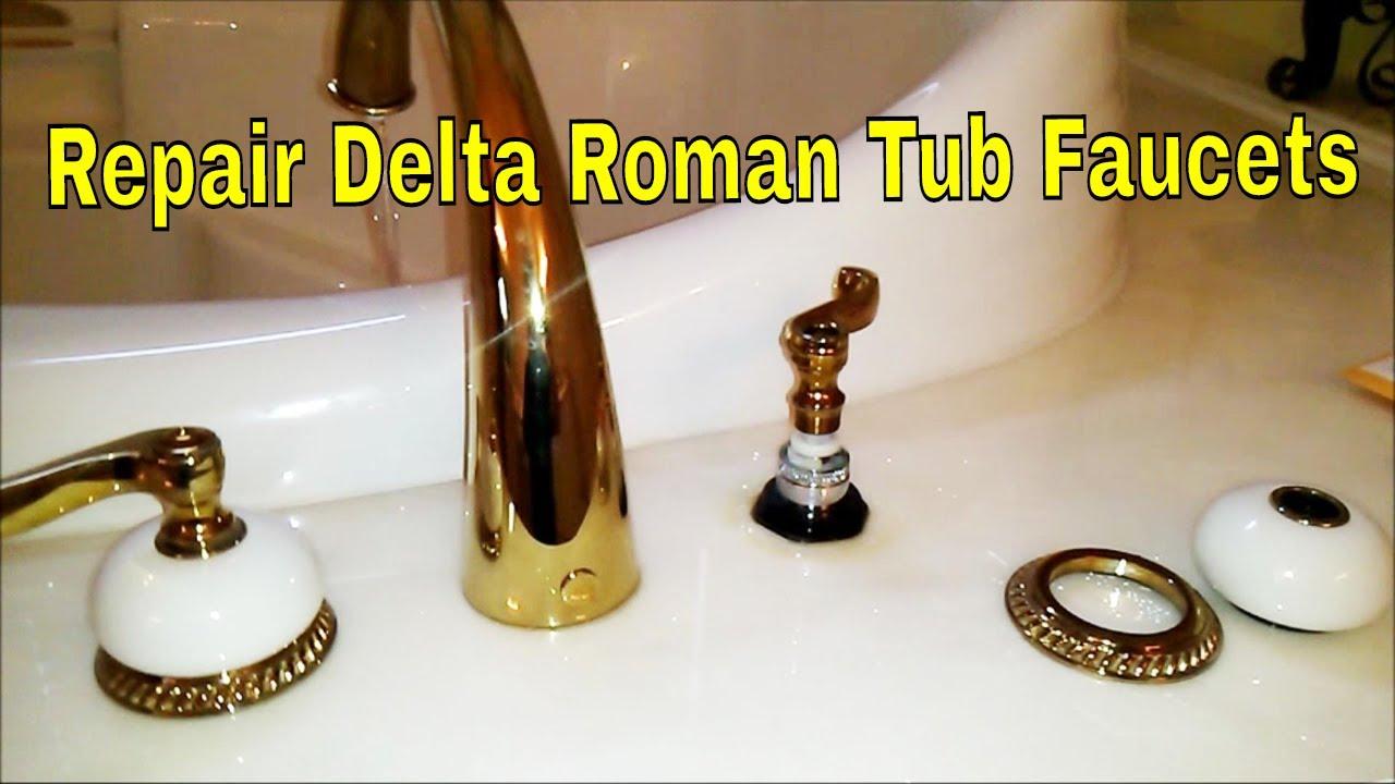 repair delta roman tub faucets how to plumbing