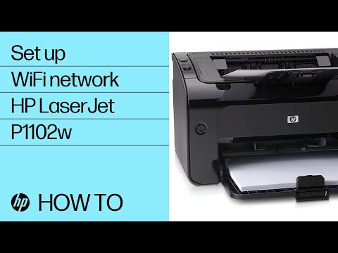 Setting Up An HP LaserJet P1102w Printer On A Wireless Network From Windows | HP Printers | HP