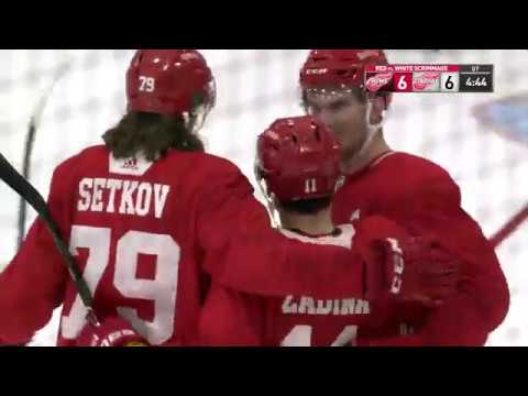 Red vs. White Game Highlights | Detroit Red Wings…