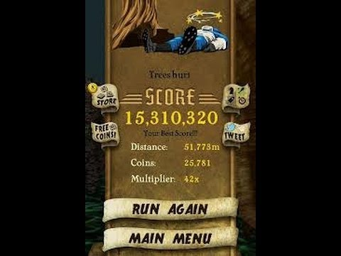 Temple Run On Samsung Galaxy Ace With Unlimited Coins