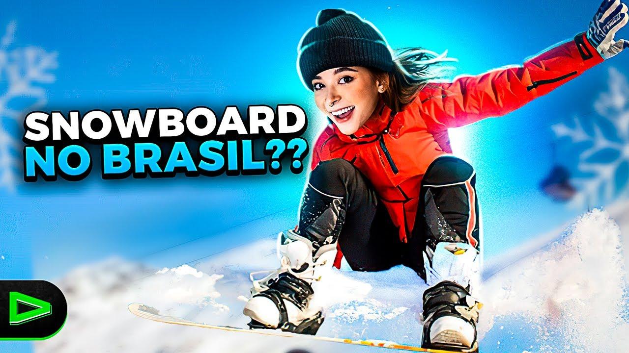 VIREI ATLETA DE SNOWBOARD E QUASE DEU RUIM!!