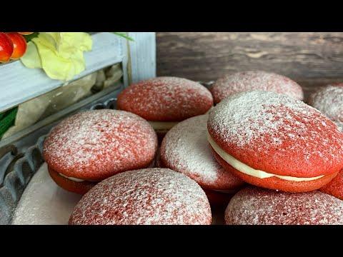 Пирожные Красный бархат за 20 минут. Қызыл мақпал. Пирожное Вупи пай Красный бархат.