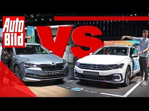 VW Passat vs. Skoda Superb Facelift (2019): Auto - Vergleich - Kombi - Test