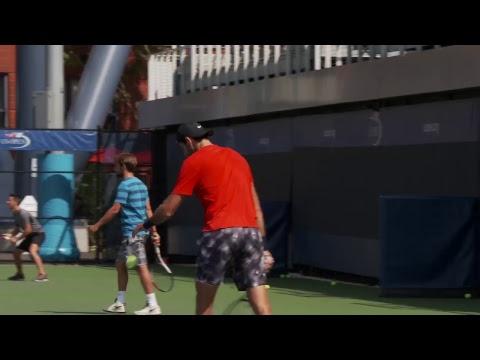 LIVE US Open Tennis 2017: Juan Martin del Potro Practice