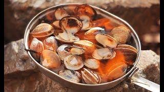 볏짚 조개구이 / Grilled shellfish / …