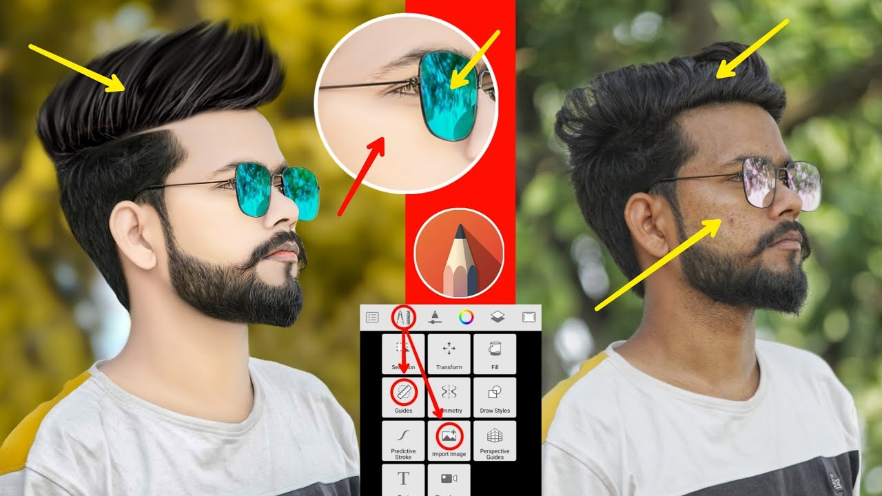 Download Autodesk Hair Editing Step By Step || Autodesk Sketchbook Hair + Face Smooth New Tutorial ||