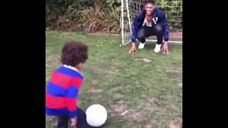 Anthony Joshua ENJOYING Fatherhood Playing Soccer With His Son