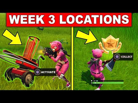 FORTNITE WEEK 3 SEASON 5 CHALLENGES! – Shoot A Clay Pigeon At Different Locations, Battle Star