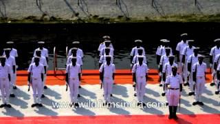 Guard of honour for President at International Fleet Review - Visakhapatnam