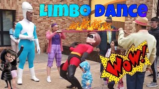 The Incredibles dancing limbo and playing with kids #theincredibles #elasticgirl #disney