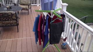 The Green Tree Foldable Heavy Duty Drying & Storage Rack on QVC