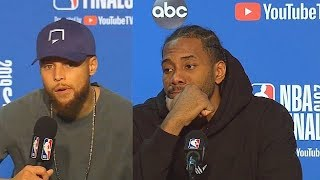 Kawhi Leonard Interrupts Stephen Curry's Postgame Interview After Game 4 (Parody)