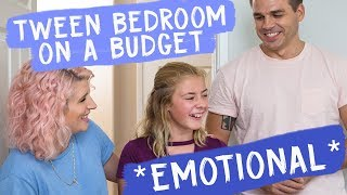 Tween Bedroom on a Budget *emotional* | Mr. Kate Decorates
