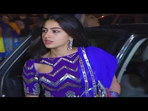 Saif Ali Khan's daughter Sara Ali Khan looks elegant at Big B's Diwali Party