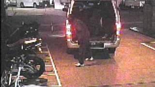CBR600RRバイク盗難防犯カメラ映像(2009年2月24日京都市)