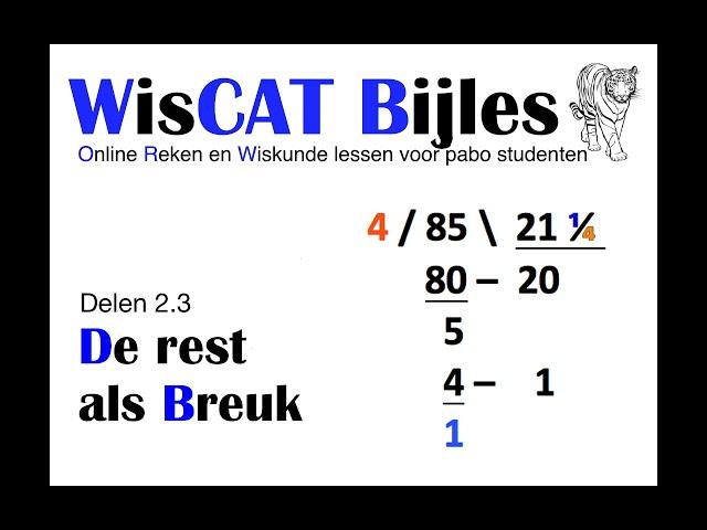 Rest als Breuk - WisCAT Werkboek: Delen 2.3