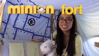 Diy: How To Build A Minion Lair Themed Fort // Forts N Crafts