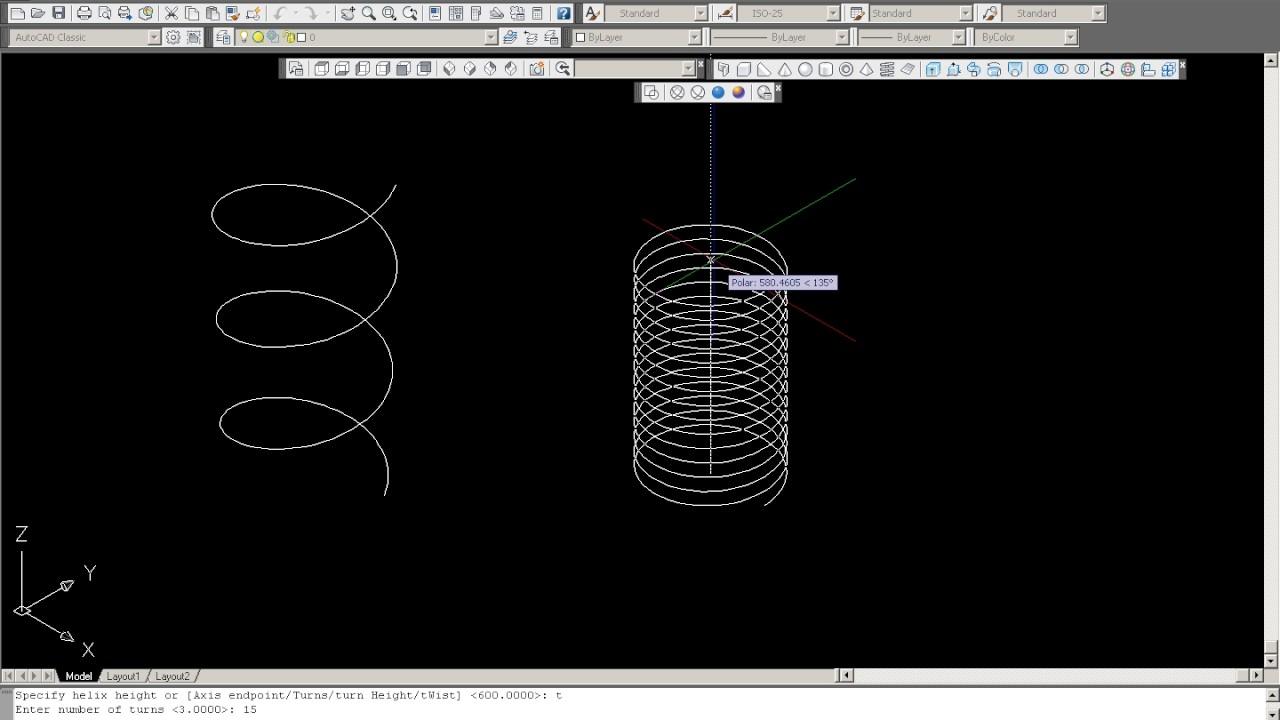 Printah helix membuat per 3d pada autocad youtube printah helix membuat per 3d pada autocad asfbconference2016 Gallery