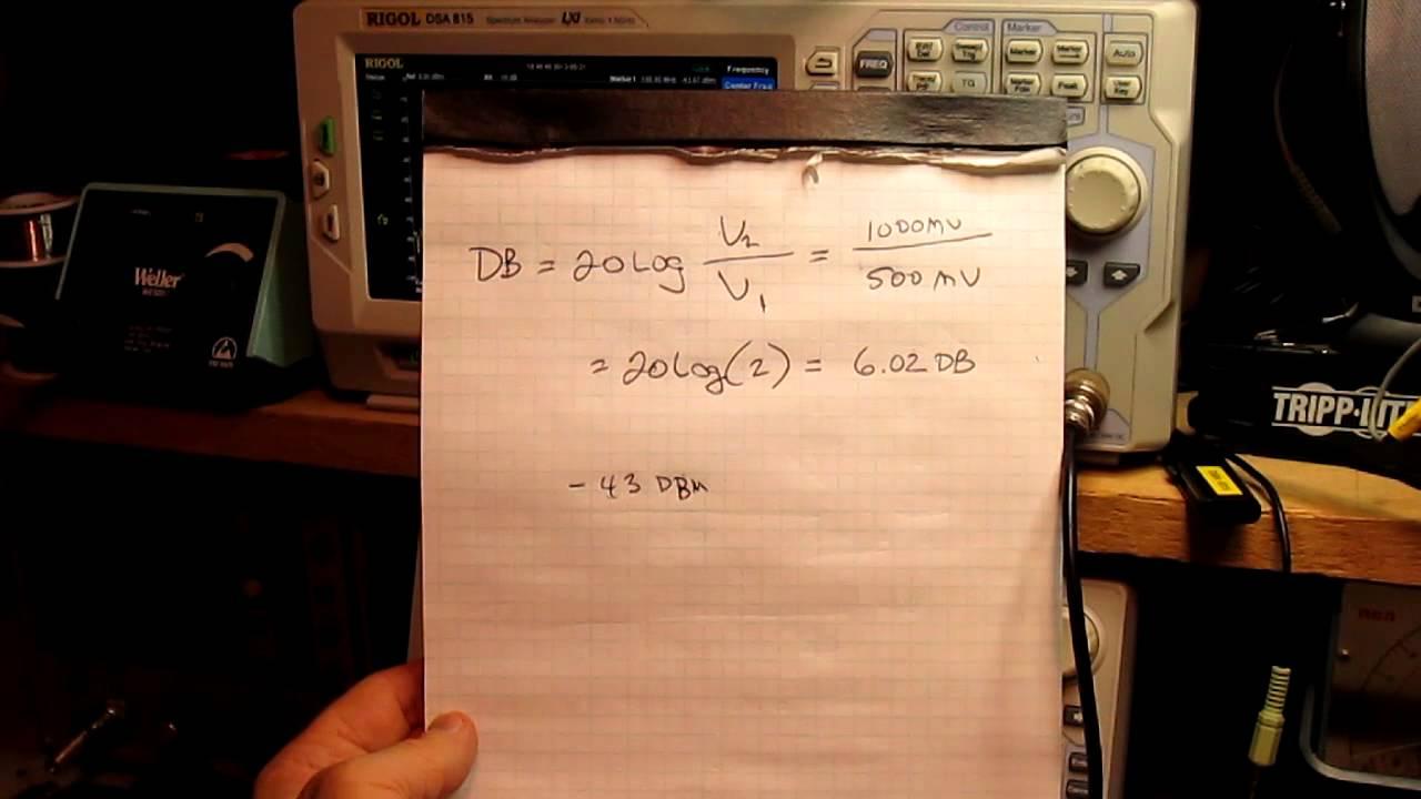 What is the formula for converting decibels into amplitude/magnitude?