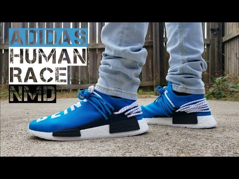 official photos 183d6 9e876 Adidas Human Race NMD Pharell x Adidas (Blue) ON FEET!