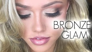 BRONZE GLAM   Makeup Tutorial   Angelia Layton
