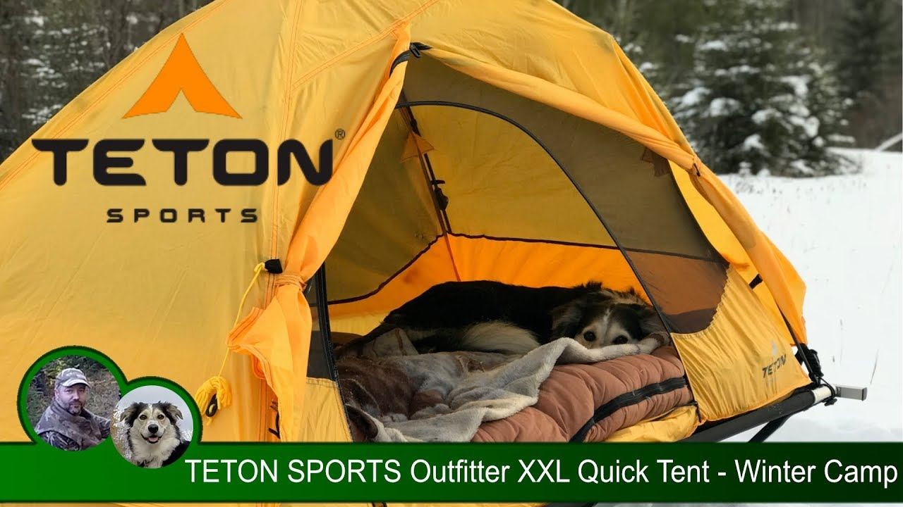 & TETON SPORTS Outfitter XXL Quick Tent - Winter Camp - YouTube