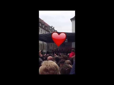 Snapchat: Kickers Empfang in der Eichhornstraße (25.05.2016)