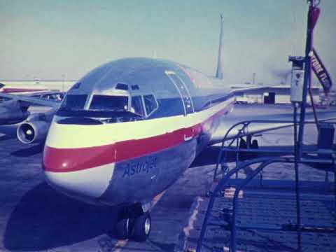 F 3475 American Airlines Boeing 707 and 727 Ground Activity at Los Angeles Intentional Airport (LAX)