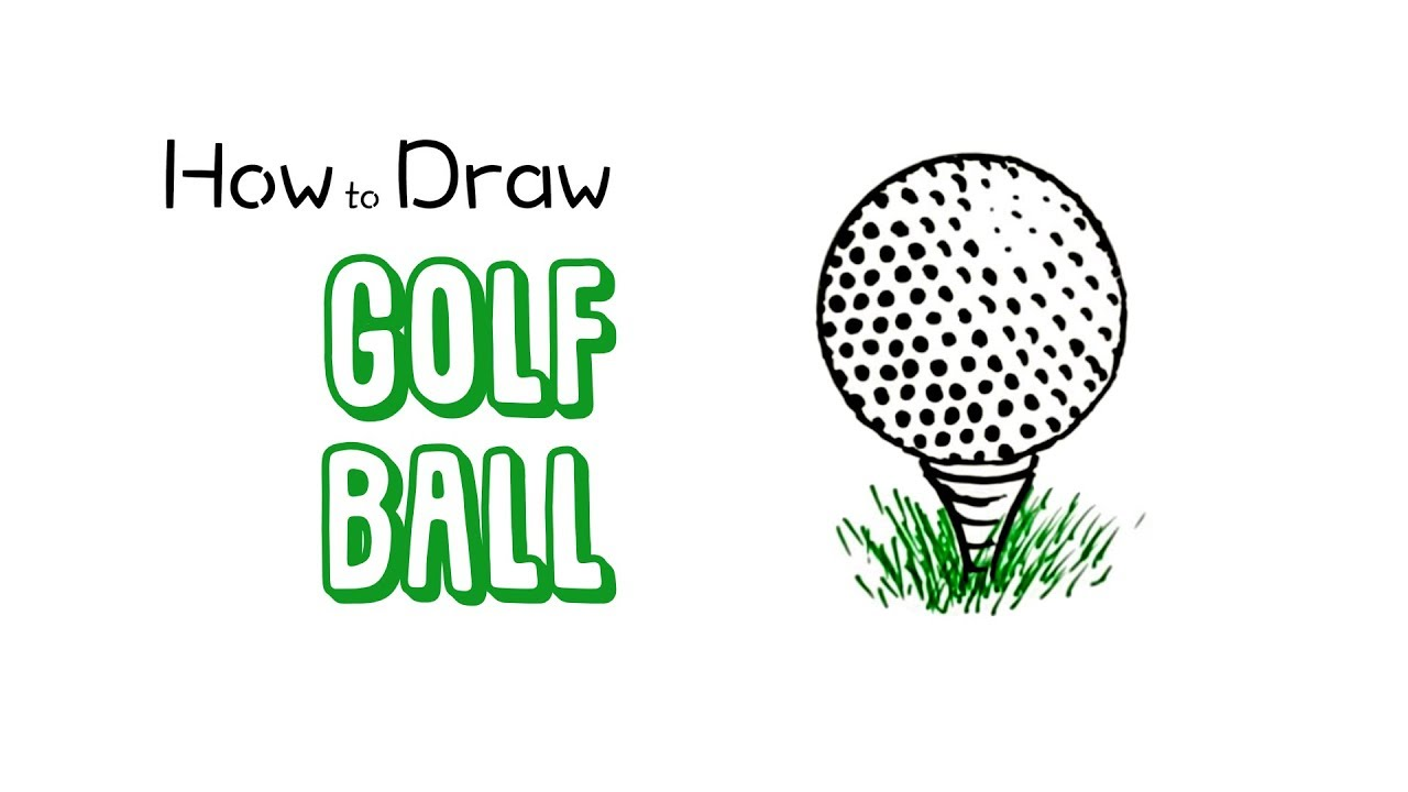 How to Draw a Golf Ball - YouTube