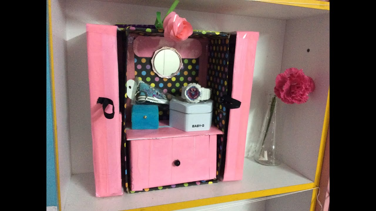 DIY- Makeup & Acessories Organizer/ SHOE BOX & CARTON ...