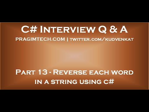 Reverse each word in a string using c#