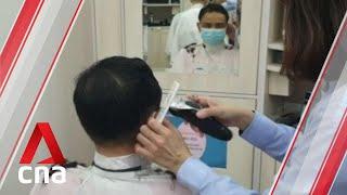 COVID-19 circuit breaker: Customers flock to get hair cut as hair salons, barber shops reopen