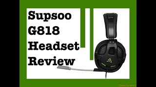 Supsoo G818 Gaming Headset Review!