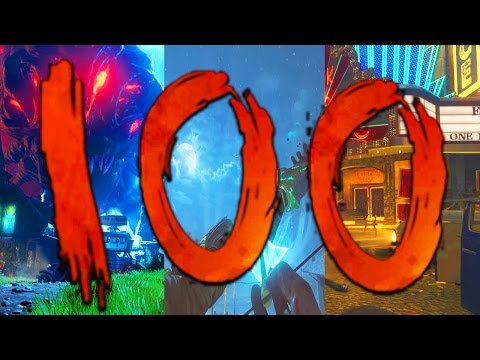 ROUND 100 ON EVERY BO3 ZOMBIES MAP