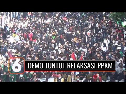 Ratusan Pengemudi Ojol Dan Mahasiswa Bandung Demo Tuntut Ganti Rugi Akibat Ppkm Darurat | Liputan 6