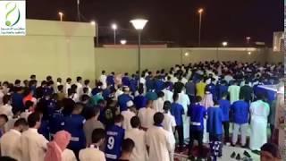 القارئ علي عبدالسلام يؤم في المصلى المتنقل مباراة \
