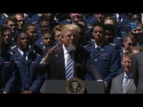 President Trump Participates in the U.S. Air Force Academy Commander-in-Chief Trophy Presentation
