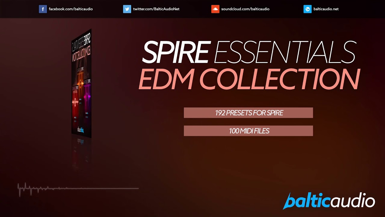 Spire Essentials EDM Collection (192 Spire Presets, 100 MIDI Files)