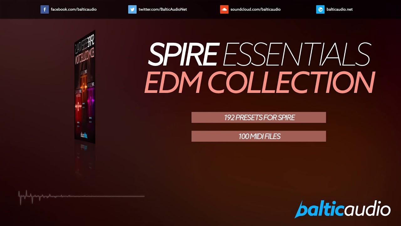 Spire Essentials EDM Collection (192 Spire Presets, 100 MIDI Files)