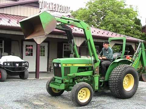 John Deere 1050 Tractor with Loader and Backhoe on EBAY ...