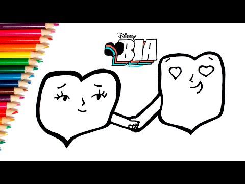 Como Dibujar Y Colorear Los Gif De Bia Disney Dibujos De Bia