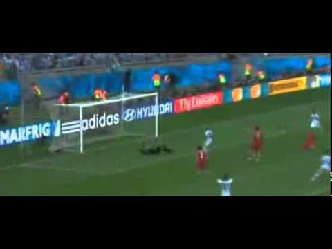 Argentina vs Iran 1 : 0 Lionel Messi Goal FIFA World Cup 2014