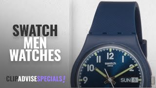 10 Best Selling Swatch Men Watches [2018 ]: Swatch Unisex GN718 Originals Navy Blue Watch