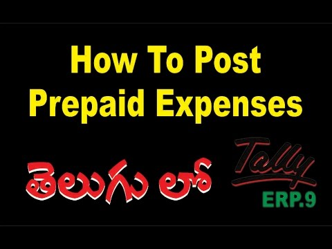 How To Post Prepaid Expenses In Tally ERP9 | Prepaid Expenses