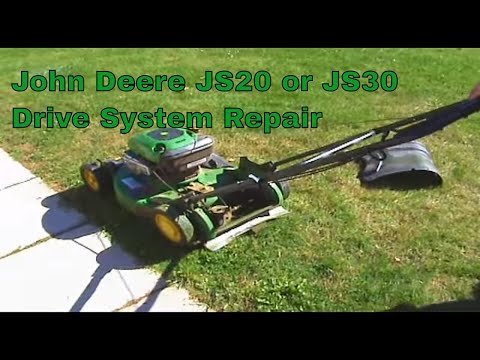 John Deere JS20 or JS30 drive system repair - YouTube
