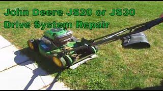 John Deere JS20 or JS30 drive system repair