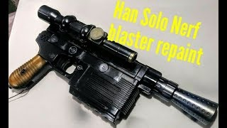 Han Solo Nerf Blaster cosmetic mod and paint job