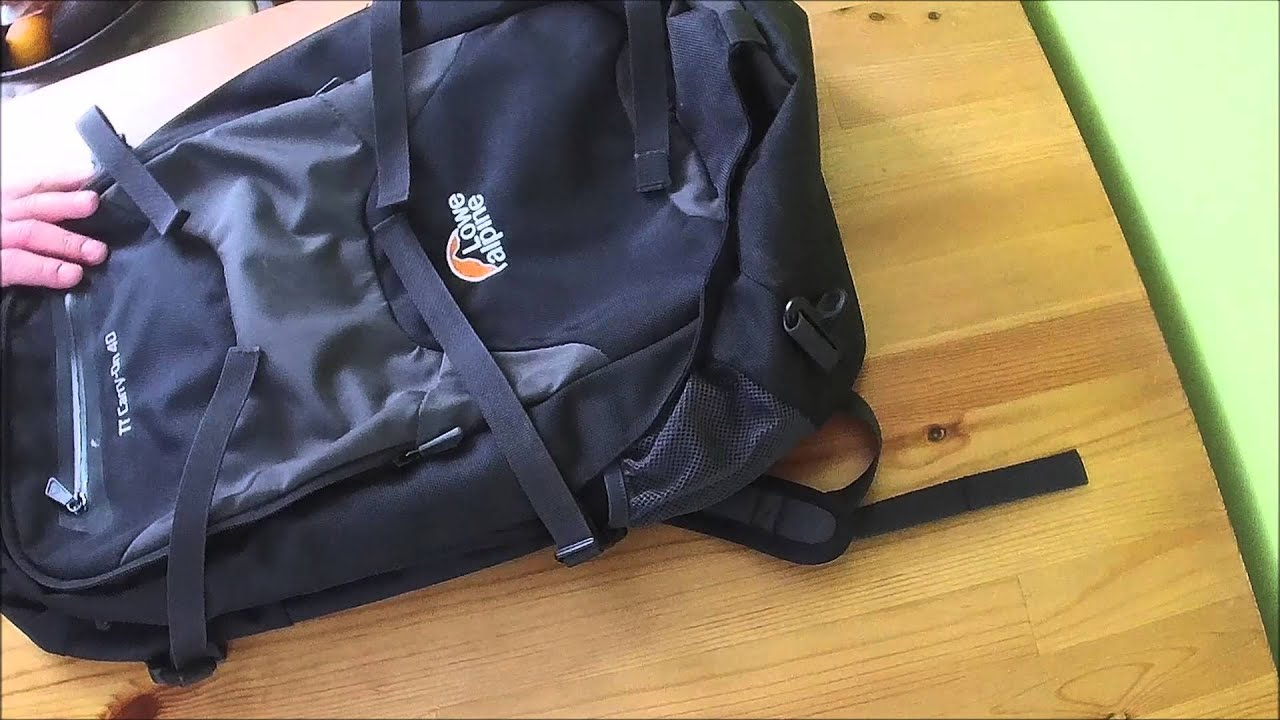 My favourite carry-on luggage  Lowe Alpine TT Carry-on 40 - YouTube 8f9546474a8a9
