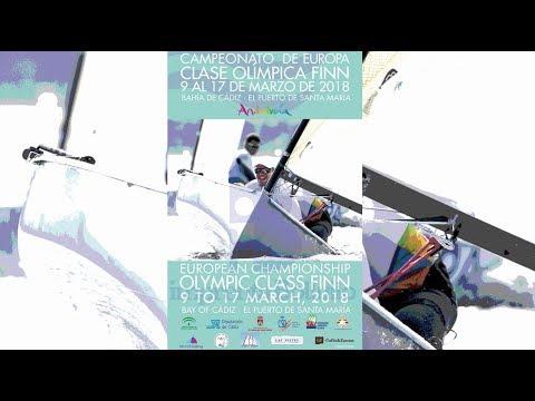 Highlights from Day 1 of 2018 Finn Europeans in Cádiz, Spain